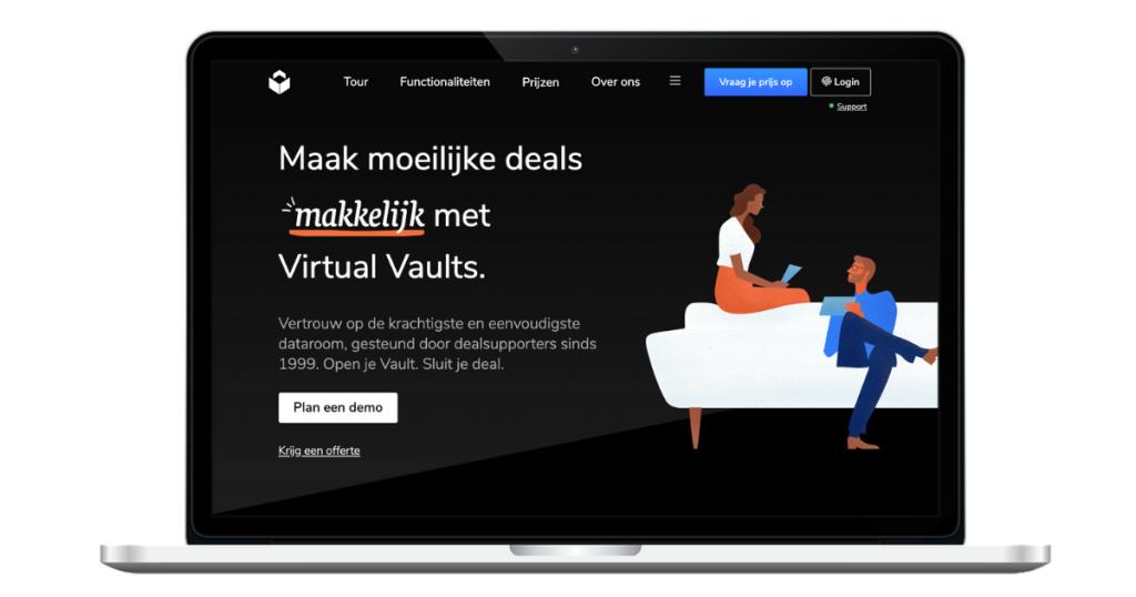 Virtual Vaults webteksten