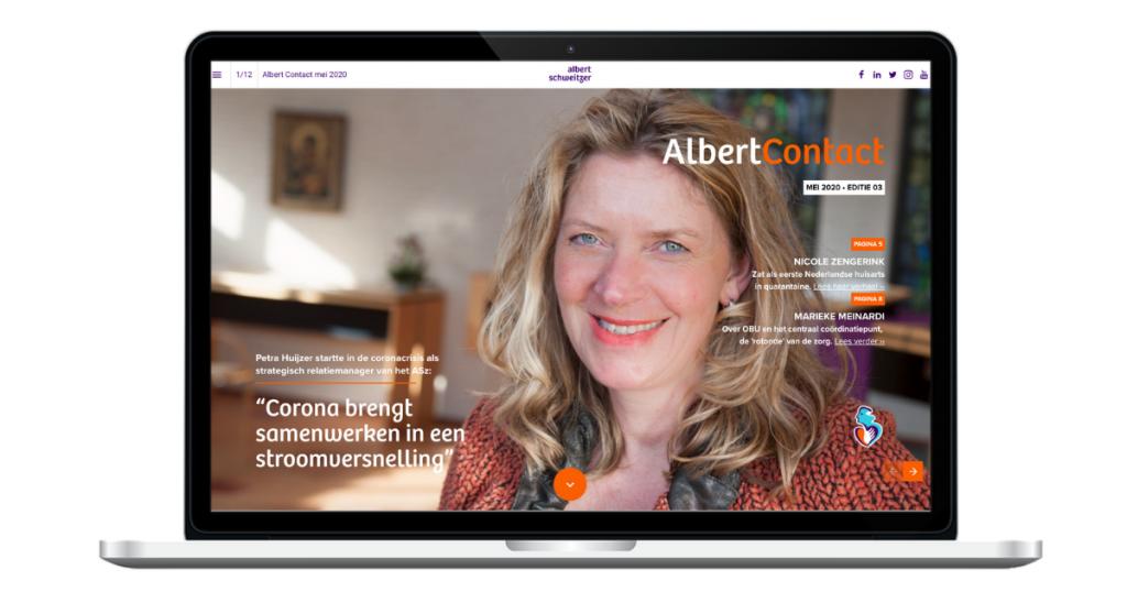 Teksten online magazine Albert Schweitzer ziekenhuis - cover