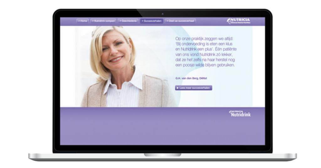 Website Nutridrink Compact 25 jaar diëtist