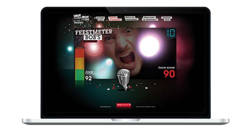 Online game van de Feestmeter - Dropshot