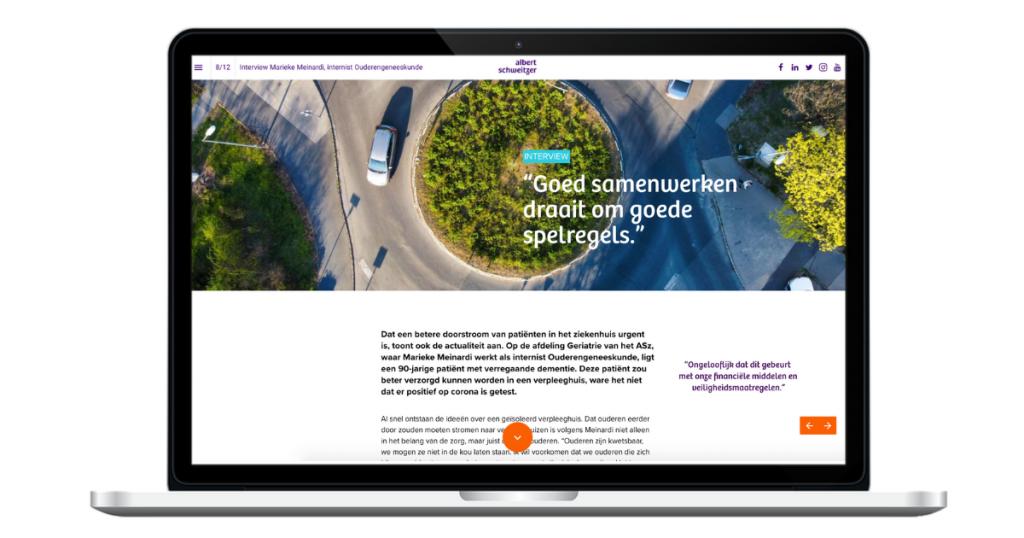 Teksten online magazine Albert Schweitzer ziekenhuis - interview Marieke Meinardi