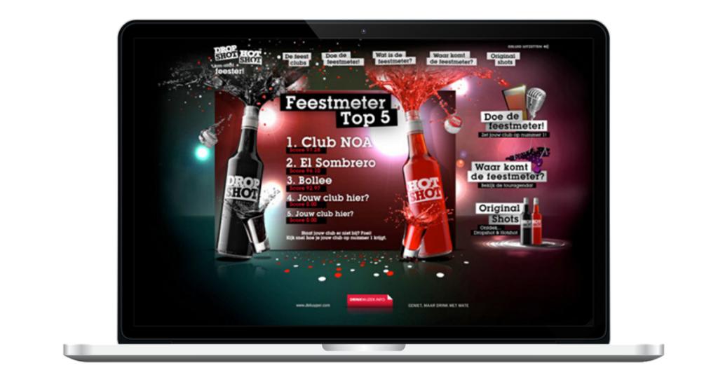 Concept campagne Feestmeter - website top 5