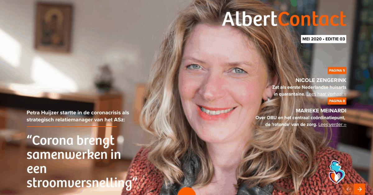 Tekstschrijven Albert Contact magazine