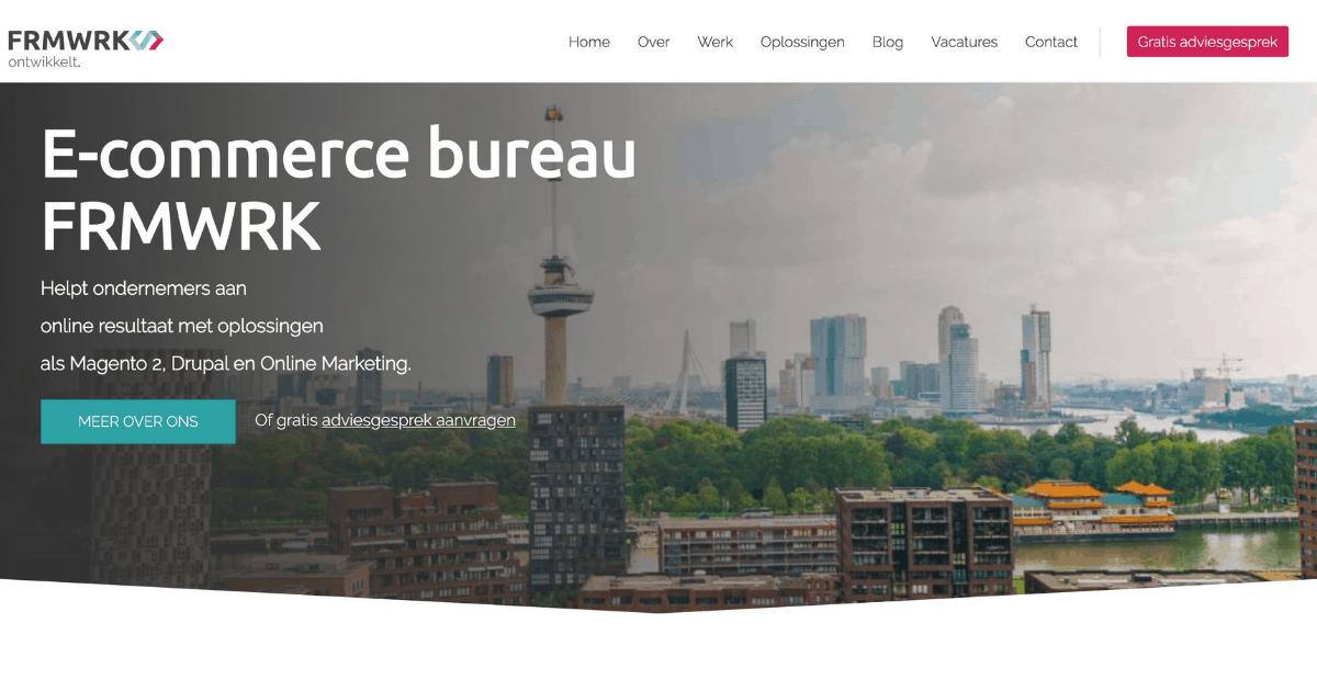 FRMWRK Homepage copywriting