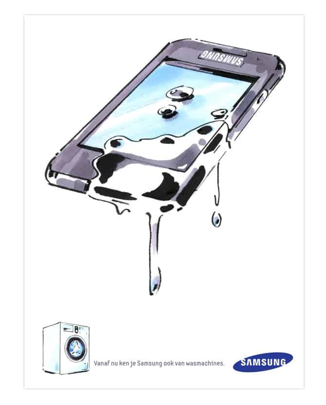 Concept advertentie Samsung wasmachines