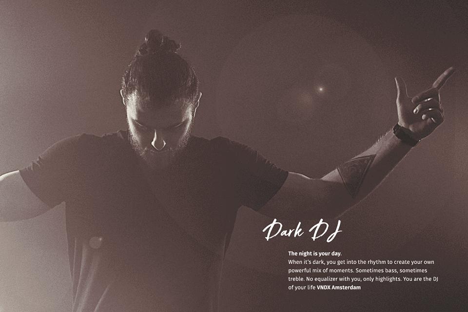 VNDX Amsterdam productnaam Dark DJ